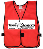Add A Text Imprint to Your Red Safety Vests (ONE COLOR)