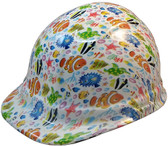 Cartoon  Fish Hydro Dipped Hard Hats Cap Style - Oblique View