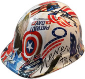 Patriot Day Hydro Dipped Hard Hats, Cap Style ~ Oblique View