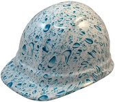 Raindrop Hydro Dipped Hard Hats, Cap Style ~ Oblique View