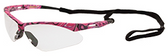 ERB Annie Safety Glasses with Pink Camo Design and Clear Lens