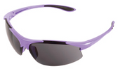 ERB Ella Safety Glasses with Purple Frame and Smoke Lens