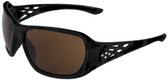 ERB Rose Safety Glasses Black Frame with Brown Lens