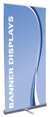 Retractable Display Sign-front view