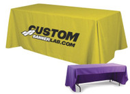 Custom Logo Tablecloths for Trade Shows