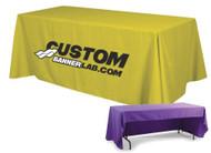 3-Sided Custom Printed Tablecloth w/ Logo - San Jose, California