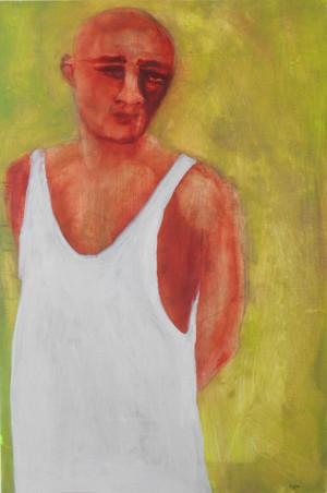 Rachel Rochford Son 2011 acrylic on board unframed 36 inches x 24 inches