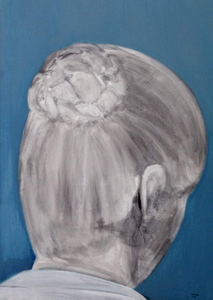 Rachel Rochford Back of head 2009 acrylic on canvas unframed 27 inches x 20 inches