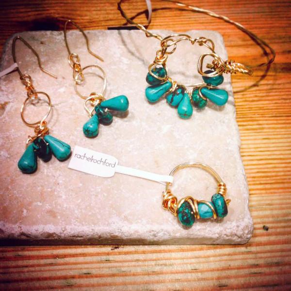 Rachel Rochford Turquoise Helix Set.
