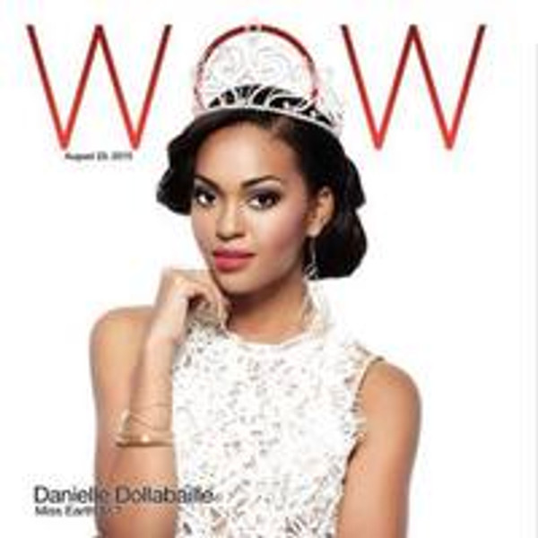 Rachel Rochford Jewellery being worn by Danielle Dolabaille Miss Earth Trinidad and Tobago 2015