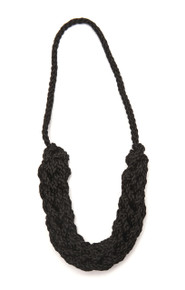Chain Link Necklace - black acrylic