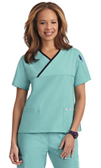 Mobb Criss Cross Scrub Top Sku:323T