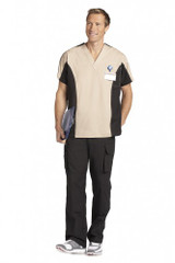 Mobb Men's Two Tone V-Neck Scrub Top Sku:409/409