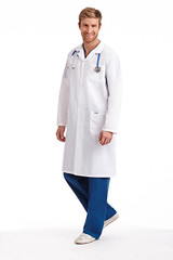 Mobb Full  Length unisex Lab Coat with Snaps Sku:L407