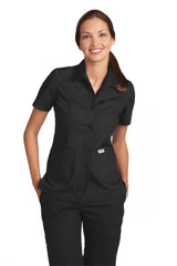 Mobb Button Front Ladies Work Top Sku:201T