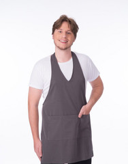 Carolyn Design Men V-Neck Apron Sku:30023-Men