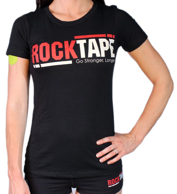 Women's Crew Neck Black Logo Tee
