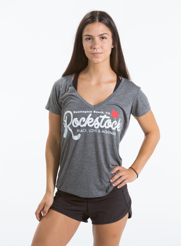 Ladie's V-Neck Rockstock Tee