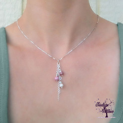 Cascading Pearls Breast Milk Pendant