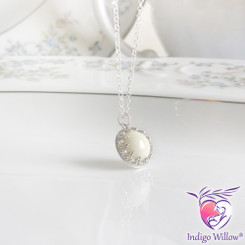 Timeless Crown Collection™ Breast Milk Pendant (Silver or Solid Gold)