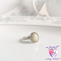 Timeless Crown Collection™ Small Oval Breast Milk Ring (Silver or Solid Gold)