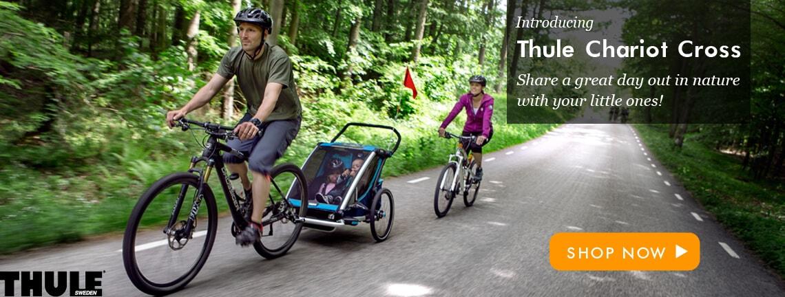 thule strollers chariot bike trailer
