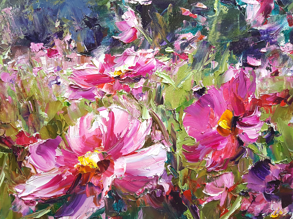 Cosmos In My Garden by Lyudmila Agrich