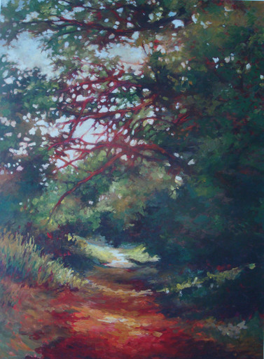Along the Trail Offset Lithograph from original by Karen Vernon 23 x 17