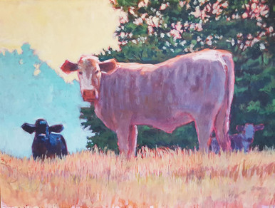 """Brindle is an original acrylic by Ken Muenzenmayer  30"""" x 40"""" on wrapped canvas with painted edges (sold unframed)  Ships in USA only (insured) If you wish to pick up in the gallery rather than ship, call 979-249-4119 to place order.)"""