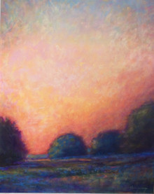 Evening Calls An original acrylic painting by Ken Muenzenmayer Picture image size 20 x 16  Made in Texas USA Ships in USA only