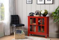 22603 Red Glass Door Accent Cabinet