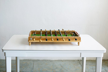 SOLD - Antique Spanish Foosball Toy, c. 1950s