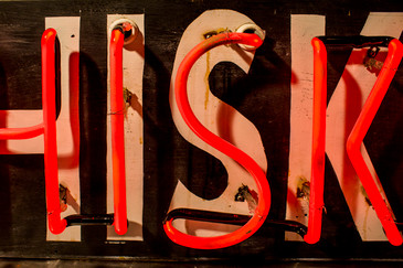 """Vintage Neon """"Whiskey"""" sign"""