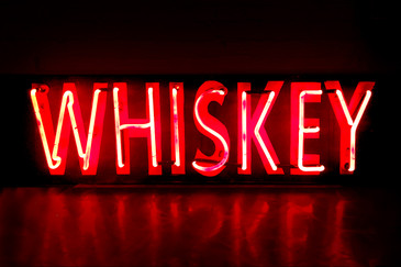 "Vintage Neon ""Whiskey"" sign"