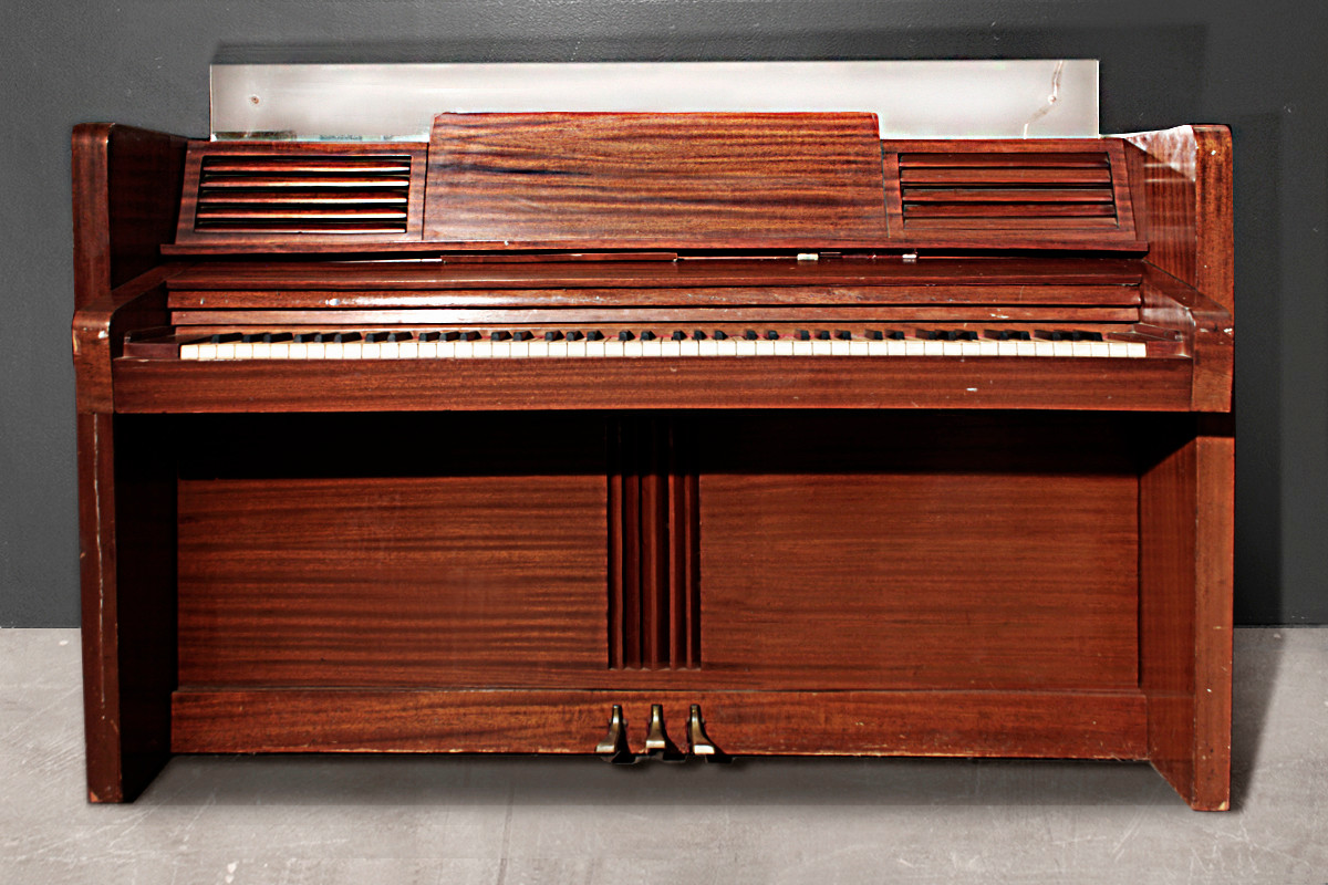 sold rare jansen art deco upright piano circa 1938 rehab vintage interiors. Black Bedroom Furniture Sets. Home Design Ideas