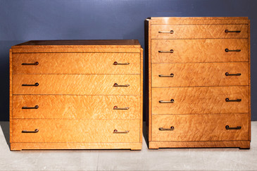 Set of two Art Deco Birdseye Maple Dressers C. 1935