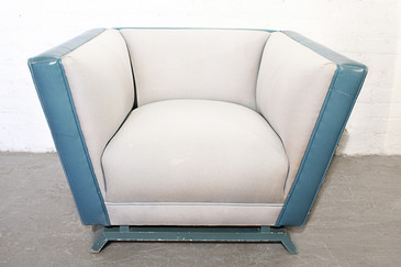 Art Deco Lounge Chair in the Style of Paul Frankl