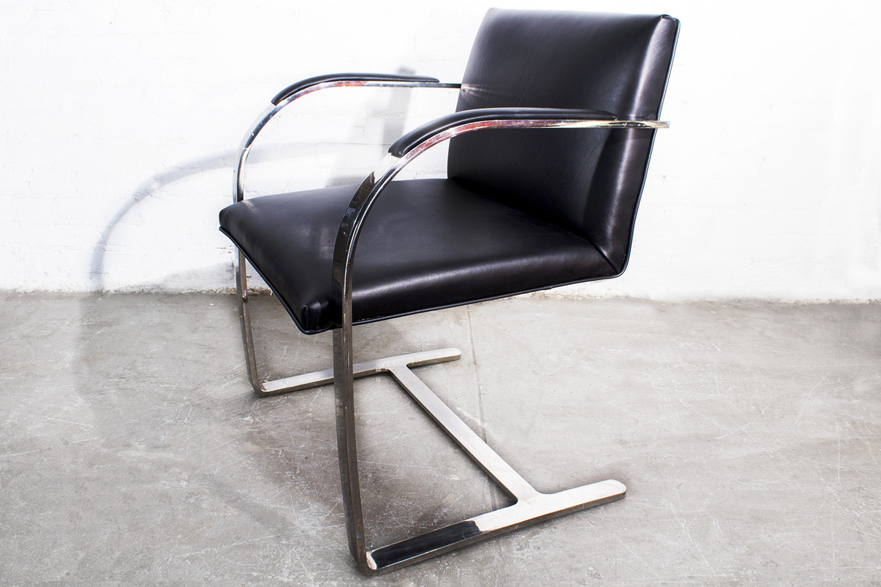 SOLD   Brno Flat Bar Arm Chair By Mies Van Der Rohe