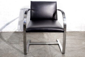 SOLD - Brno Flat Bar Arm Chair by Mies van der Rohe