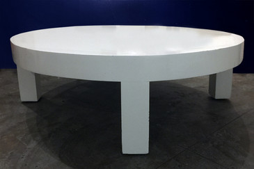 SOLD - White Lacquer Circular Coffee Table