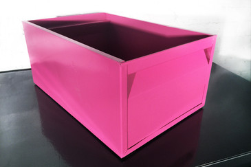 1940s Industrial Mail Bin, Refinished in Pink