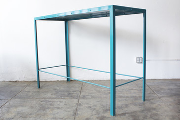 Large Steel Console Table, Rehab Vintage Original