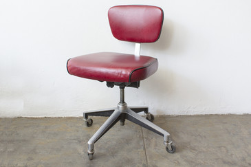 1960s Cast Aluminum Steno Chair, Refinished
