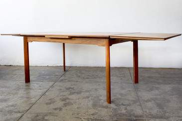 Danish Modern Teak Dining Table, Expandable