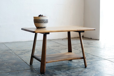 SOLD - Early American Wood Side Table, Primative Style