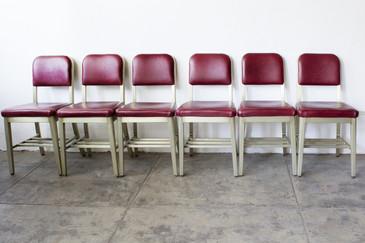 Set of Six GoodForm Aluminium Side Chairs, Refinished