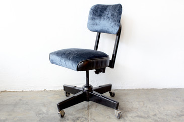 1960s Task Chair in Black and Blue