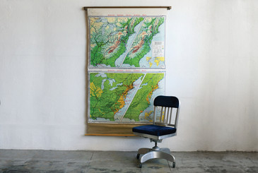 SOLD - American Westward Movement Pull Map, 1960s