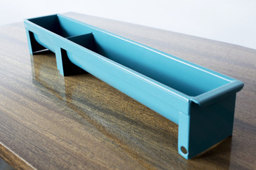 Tanker Drawer Insert Repurposed as Desktop Organizer, Refinished in Blue