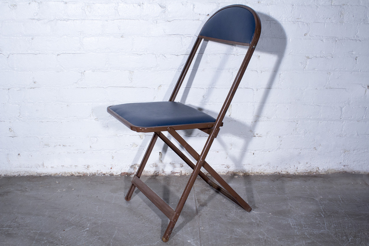 SOLD   1960s Folding Chairs, Set Of Four, Refinished
